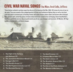 Civil War Navy Songs, CD, back